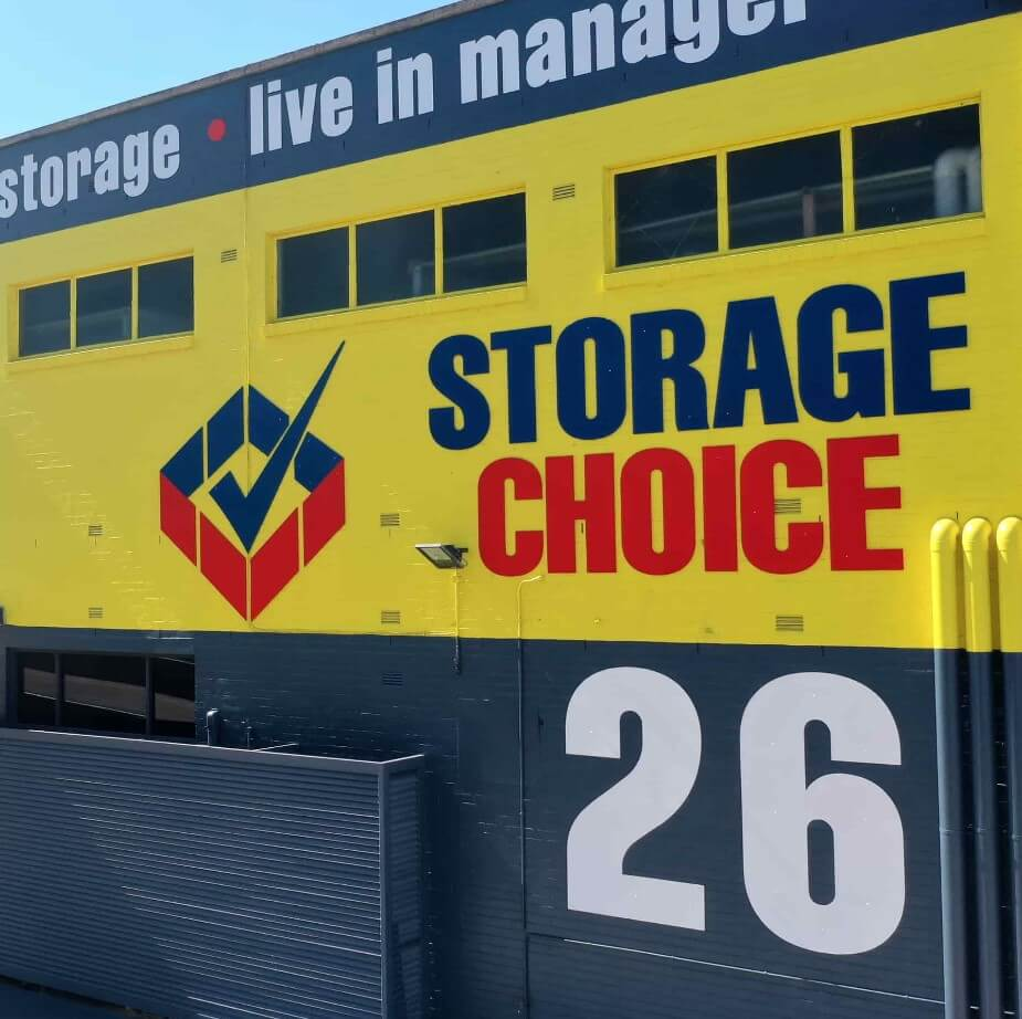 Signage for the Albion self storage location