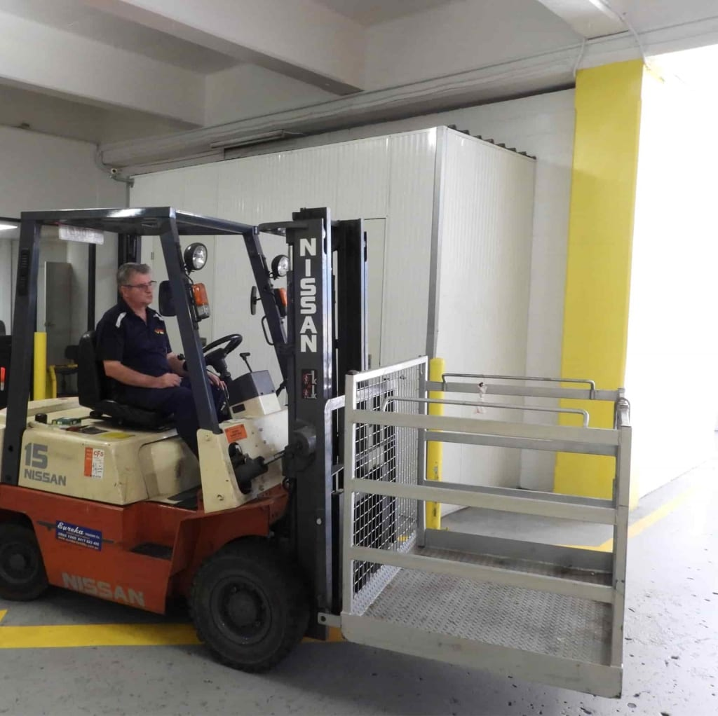 Forklift at Albion self storage
