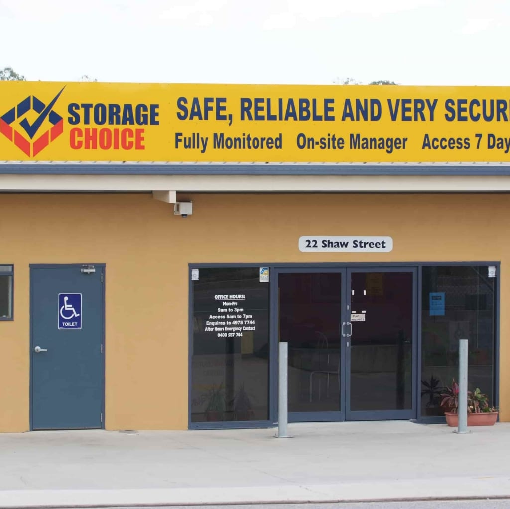 Signage at the Storage Choice Gladstone location