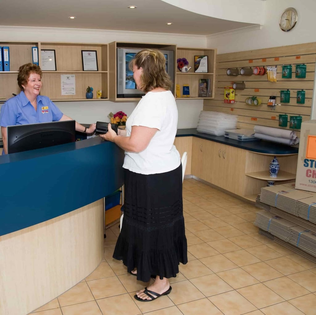 Front office reception at the Gladstone self storage location