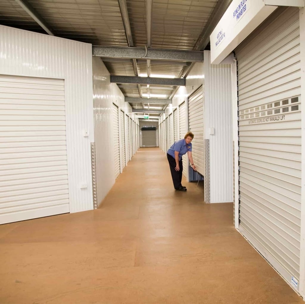 Internal sheds at the Gladstone self storage location