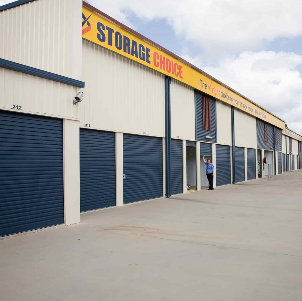 Drive-up sheds at the Gladstone self storage location