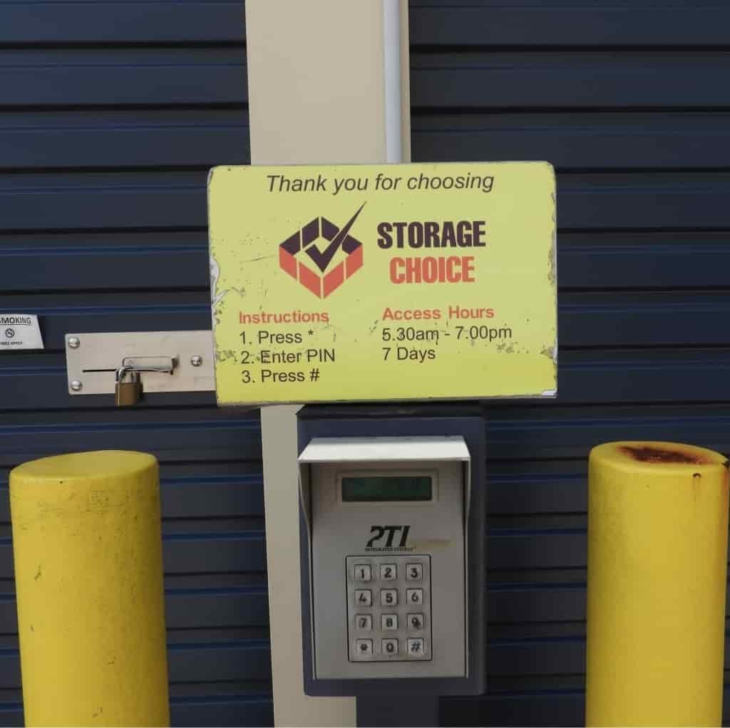 Pin pad at Storage Choice Ipswich