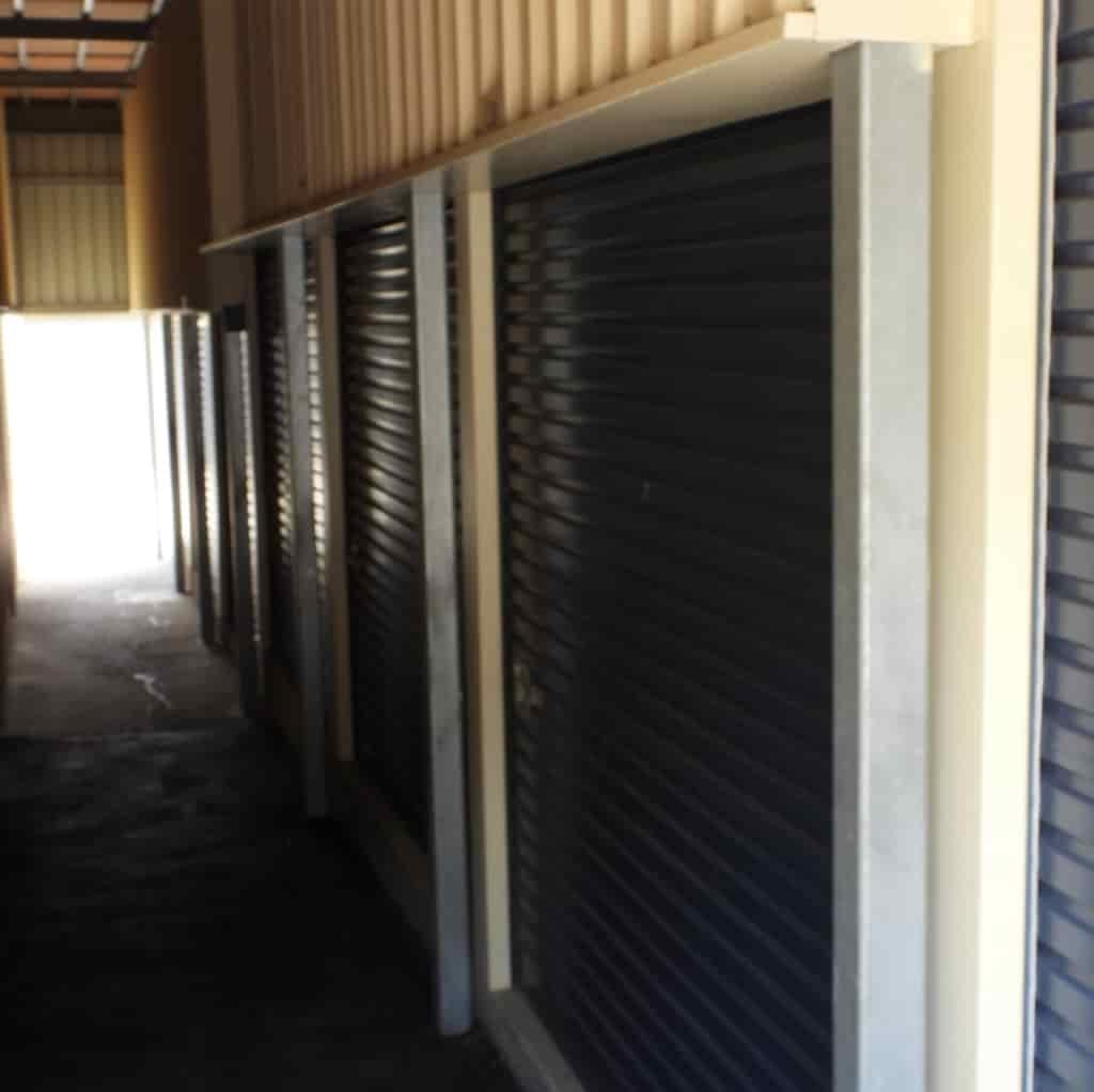 Internal sheds and lockers at the Ipswich self storage location