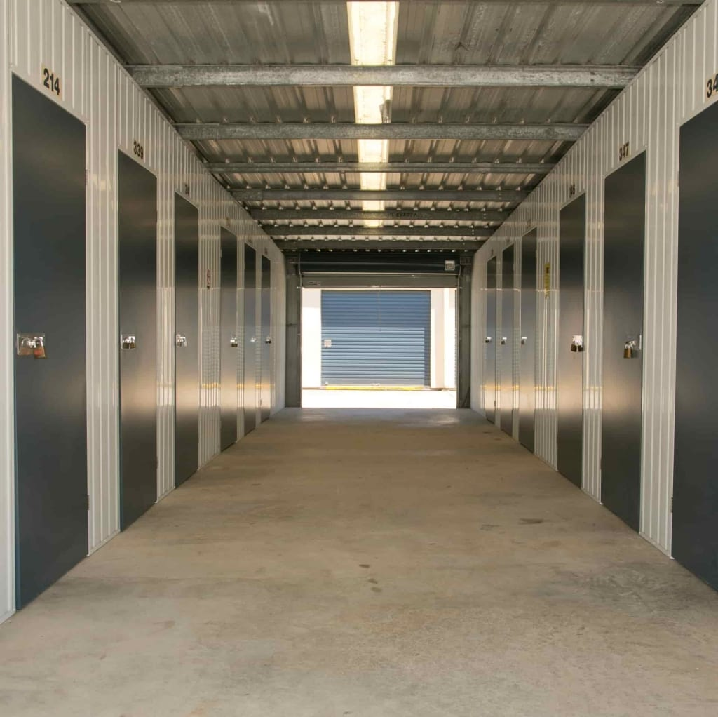 Under self storage units at Maroochydore