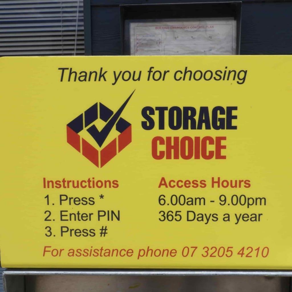 Pin pad at Strathpine Storage Choice