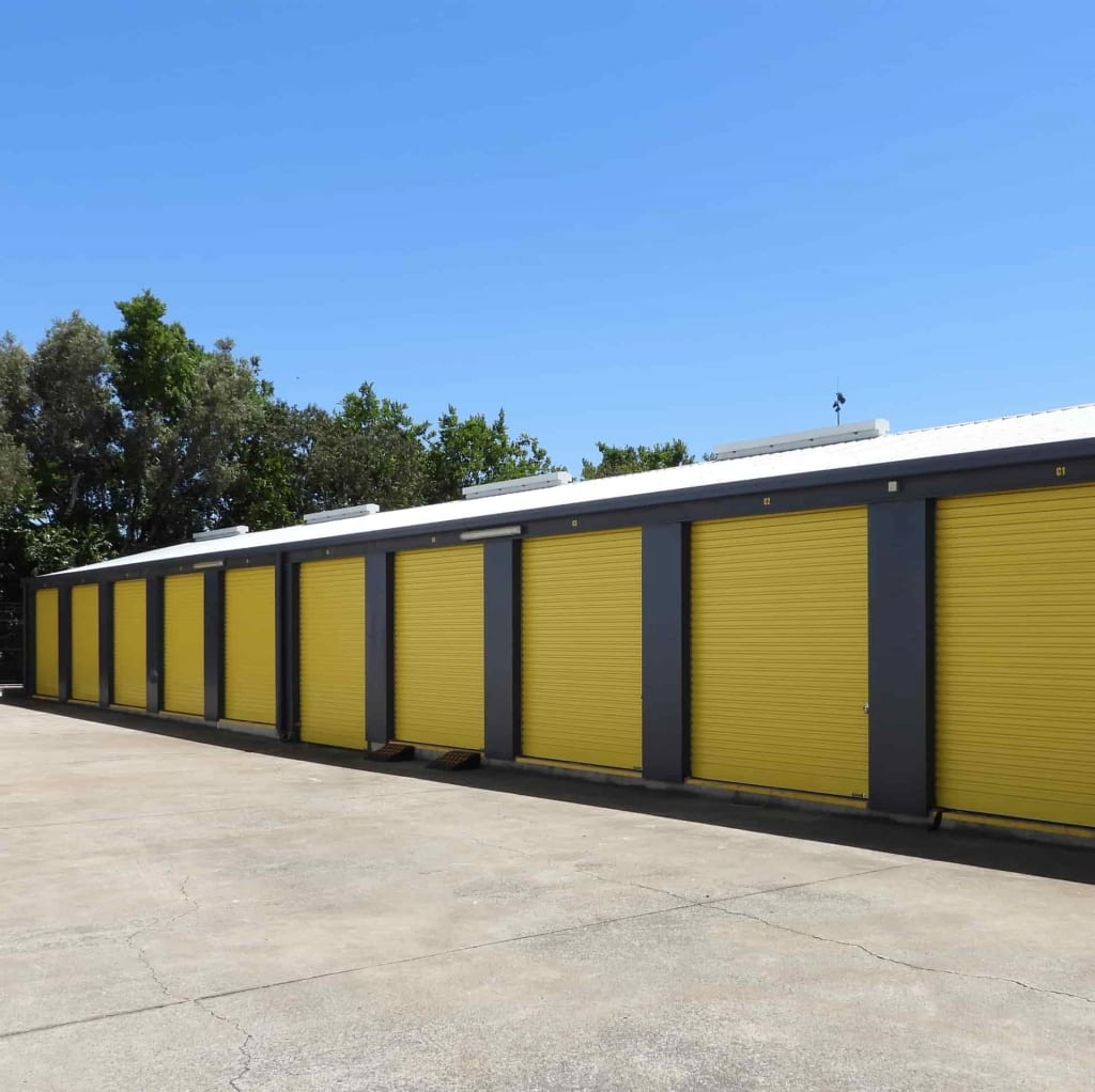 Drive-up self storage access at Zillmere